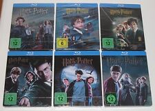 Harry Potter 1-6 Blu Ray STEELBOOK steelbooks-Alemán-Nuevo + Sellado De Alemania