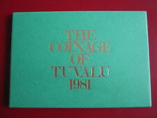 Tuvalu 1981 7 Coin 1 Cent - 1 Dollar Proof Set sealed Case Envelope Royal Mint