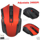 2.4G 2400DPI Wireless Optical Gaming Mouse Mice +USB Receiver For PC Laptop Lot