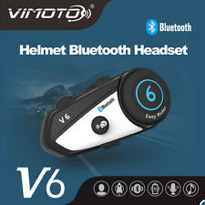 1x BT Bluetooth Motorcycle Helmet Interphone Intercom Headset for Cellphone  V6