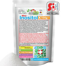 100g (3.5 oz) 100% Pure INOSITOL POWDER -Myo Inositol, USP -  FREE SHIP