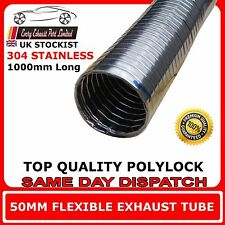 "2"" x 1m Universal Stainless Flexi Hose Pipe For Exhaust Induction and Back Box"