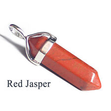 Natural Red Jasper Gemstone Hexagonal Reiki Chakra Healing Pendant For Necklace