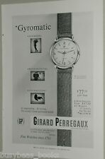 1954 Girard Perregaux Watch ad, Gyromatic wristwatch