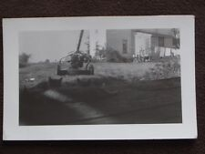 CATS LYING ON PORCH BY OLD LAWN MOWER IN THE GRASS Vintage ABSTRACT  PHOTO