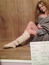 Ladies Knitted Long Cable Socks Knitting Pattern