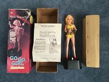 GoGo Dancing Girl Battery Operated Drink Shaker Vintage 1969 Made in Japan