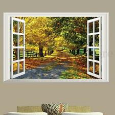 3D Maple Boulevard Large Wall Sticker Window View Art Decal Home Mural Removable