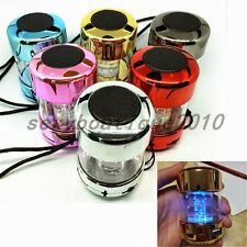 Mini LED Crystal Sound Box MP3 Audio Player Smartphone Mobile Speaker TF/USB/FM