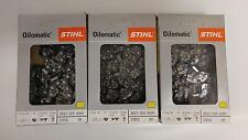 """3pk  28"""" STIHL Chainsaw Chain 33 RS 91 3623 005 0091 33RS 91 3/8"""" pt 91 Link NEW"""