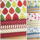 Scandi leaf Fat Quarter bundles 100% cotton fabric 4 colour ways