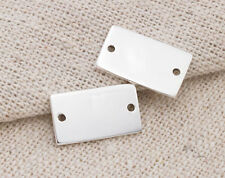 925 Sterling Silver 2 Rectangle Links, Connectors 8x14mm.