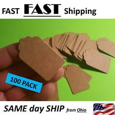 100 PACK -- Antique Rustic Price TAGS - Large string style gift tag ---- ArtTAg