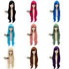 80cm Wavy Long Fashion Synthetic Heat Resistant Women Wigs Anime Cosplay Wig+Cap