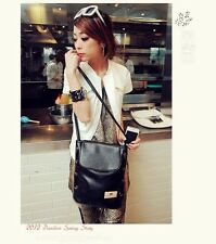 Leather Cross Body Vintage Black Shoulder Bag