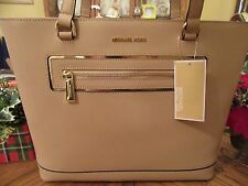 MICHAEL KORS OYSTER SAFFIANO LEATHER FRAME OUT ITEM LARGE NS TOTE PURSE NEW $248