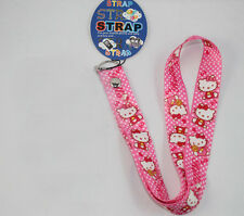 Pink Hello Kitty Neck Strap Lanyard Keychain Key Chains Phone Card Badge Holder