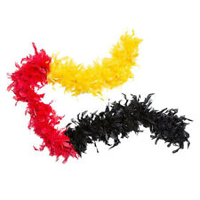 Feather boa in Germany colors black red gold Length ca. 210 cm 30662