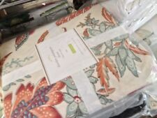 Pottery Barn Dierdre Duvet Cover Set Red 1 Euro Sham Twin Floral Chintz Diedre