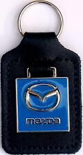 Mazda Keyring Key Ring - wing style badge mounted on a leather fob