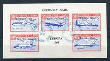 GUERNSEY-SARK EUROPA 1966 SHEET USED