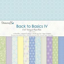 "Dovecraft Back to Basic Papers 6"" Card Making Scrapbooking 72 Sheets Blue Floral"