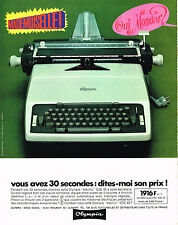 PUBLICITE   1967    OLYMPIA  machine  à écrire