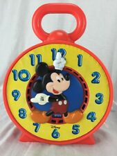 Vintage 80's Mattel Disney Mickey Mouse See N Say Chatter Talking Toy Clock 1981