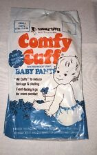 VINTAGE Vinyl PLASTIC BABY PANTS Comfy Cuff Small (birth-12lbs)Tommee Tippee New