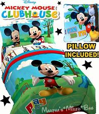 DISNEY MICKEY MOUSE Boy Single/Twin Size Bedding COMFORTER SET+Sheet+Sham+Pillow