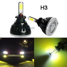80W H3 8000LM 3000K Yellow Fog Light Conversion Replacement LED Bulbs Lamp Kit H