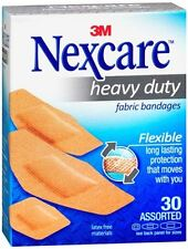 Nexcare Heavy Duty Flexible Fabric Bandages Assorted 30 Each