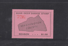 State Hunting/Fishing Revenues - VA - (Washington Co.) Undated Bear/Deer - Pink