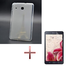 "OP TPU Gel Rubber Soft Case Cover + Film For 7"" Samsung Galaxy Tab A 7.0 SM-T280"