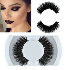 Schwarz 100% Real Mink Lang Natural Dick falsche Wimpern False Eyelashes hot