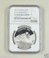 Canada Silver Coin 20 Dollars 2011, D-10 Locomotive, NGC PF 70
