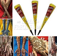 3x Golecha Henna Coni Cono marrone rossiccio á 25g per Mehndi Tatuaggi