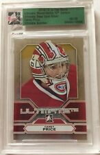 2012-13 Ultimate Carey Price /30 Memorabilia 12th Silver Card In The Game 12/13