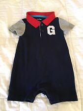 Baby Gap baby boy outfit 12-18 months old navy blue, red, gray