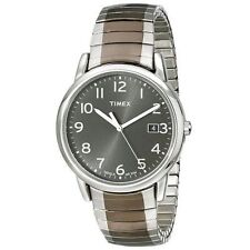 Timex T2N949, Easy Reader, Men's, 2-Tone Expansion Watch, Indiglo, T2N9499J