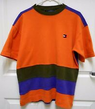 Vtg Tommy Hilfiger,90's Color Block Sewn Stripe Crew-Neck,T- Shirt,Medium,