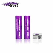 2 x 100% Genuine Efest IMR 18650 3.7v 2500mAh BATTERY 35A HIGH DRAIN Flat Top