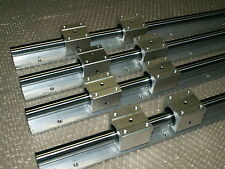 20mm linear slide guide shaft SBR20-1400mm 4 rail+8SBR20UU bearing block CNC set