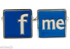 FUN F & ME CUFFLINKS WITH VELVET POUCH,  UK seller SEE FACEBOOK