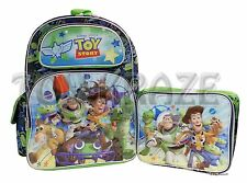 "TOY STORY BACKPACK & LUNCH BOX SET! GO CART RUN SCHOOL BAG DISNEY 16"" NWT"
