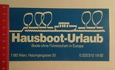 Aufkleber/Sticker: Hausboot Urlaub Wien (070816149)