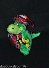 Peluche Doudou Nessie Monstre Loch Ness Musical Vert Ecossais 16 Cm Assis TTBE