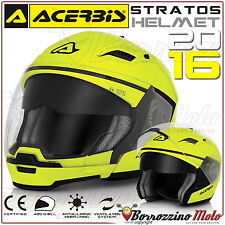 CASCO MOTO SCOOTER ACERBIS STRATOS CROSSOVER JET/INTEGRALE GIALLO FLUO TG. XL
