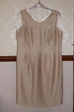 Jacques Vert Dress Champagne Beige Party Wedding Mother Bride BNWT UK 16