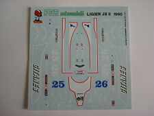 F1 DECALS KIT 1/43 LIGIER JS 11 F1 1979 DEPAILLER-LAFITTE 1/43 DECALS